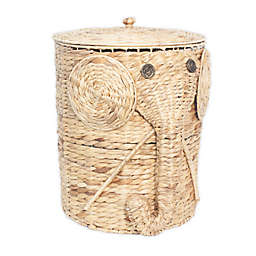 Taylor Madison Designs® Water Hyacinth Elephant Hamper in Natural