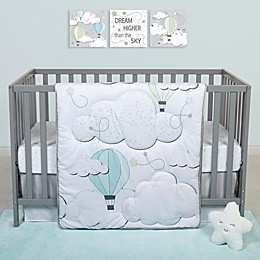 Sammy & Lou Starry Dreams 4-Piece Clouds Crib Bedding Set