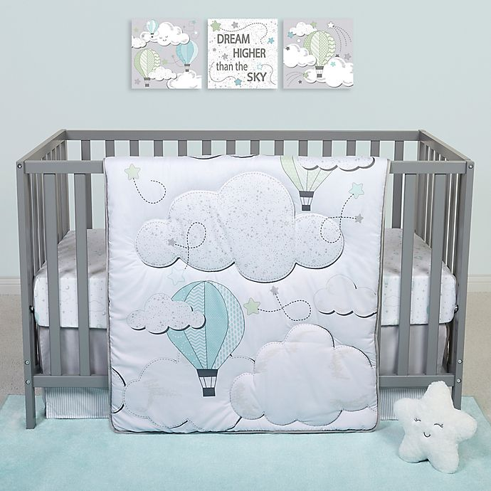 Alternate image 1 for Sammy & Lou Starry Dreams 4-Piece Clouds Crib Bedding Set