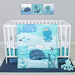 Sammy & Lou Nautical Adventure 4-Piece Octopus Crib Bedding Set