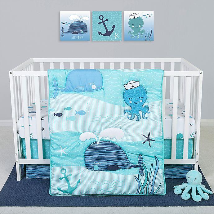 Alternate image 1 for Sammy & Lou Nautical Adventure 4-Piece Octopus Crib Bedding Set
