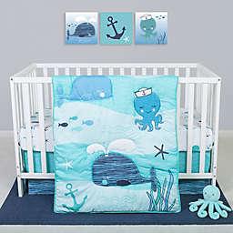 Sammy & Lou Nautical Adventure 4-Piece Crib Bedding Set in Blue/White