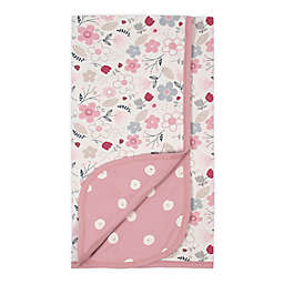 Gerber® Floral Reversible Organic Cotton Baby Blanket in Ivory/Pink