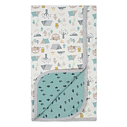 Gerber® Camping Reversible Organic Cotton Baby Blanket in Ivory/Green