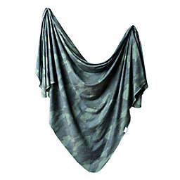 Copper Pearl™ Hunter Knit Swaddle Blanket in Green