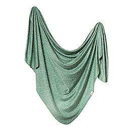 Copper Pearl™ Juniper Knit Swaddle Blanket in Green/White