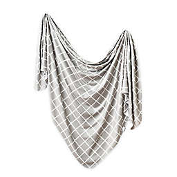 Copper Pearl™ Midway Knit Swaddle Blanket in Grey/White