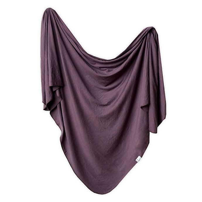 Alternate image 1 for Copper Pearl™ Knit Swaddle Blanket in Plum