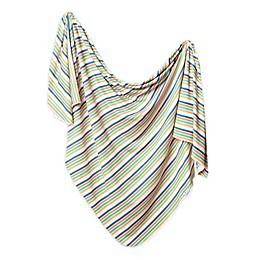 Copper Pearl™ Retro Knit Swaddle Blanket in White