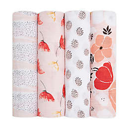 aden + anais® 4-Pack Picked For You Swaddle Blankets in Red