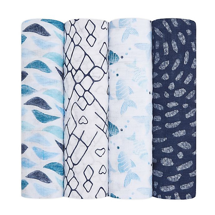 Alternate image 1 for aden + anais® 4-Pack Swaddle Blankets