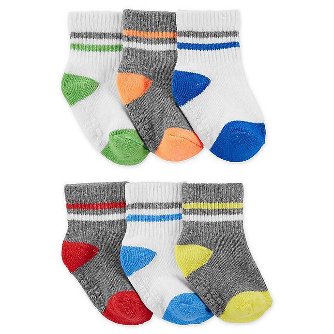 Alternate image 1 for carter's® 6-Pack Pop Athletic Socks