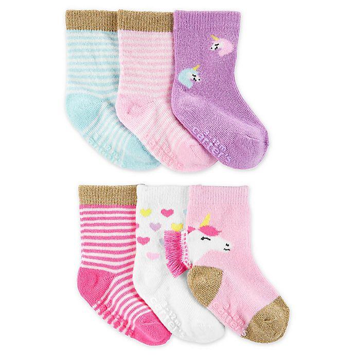 Alternate image 1 for carter's® 6-Pack Unicorn Socks