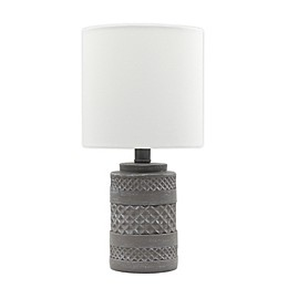 Bee & Willow™ Home Carved Resin Table Lamp in Grey
