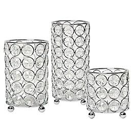 Elegant Designs Elipse Crystal and Chrome Candle Holder