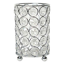 Elegant Designs Elipse Crystal and Chrome 5-Inch Candle Holder