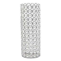 Elegant Designs Elipse Crystal and Chrome 11.25-Inch Decorative Vase
