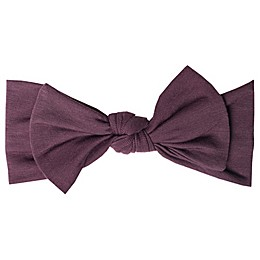 Copper Pearl™ One Size Knit Bow Headband in Plum