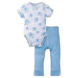 MiracleWear® 2-Piece Posheez Snap 'n Grow Elephant Bodysuit and Pant Set