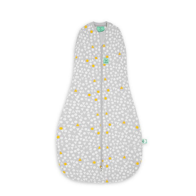 Alternate image 1 for ergoPouch® Triangle Pops Organic Cotton Cocoon Swaddle Bag in White