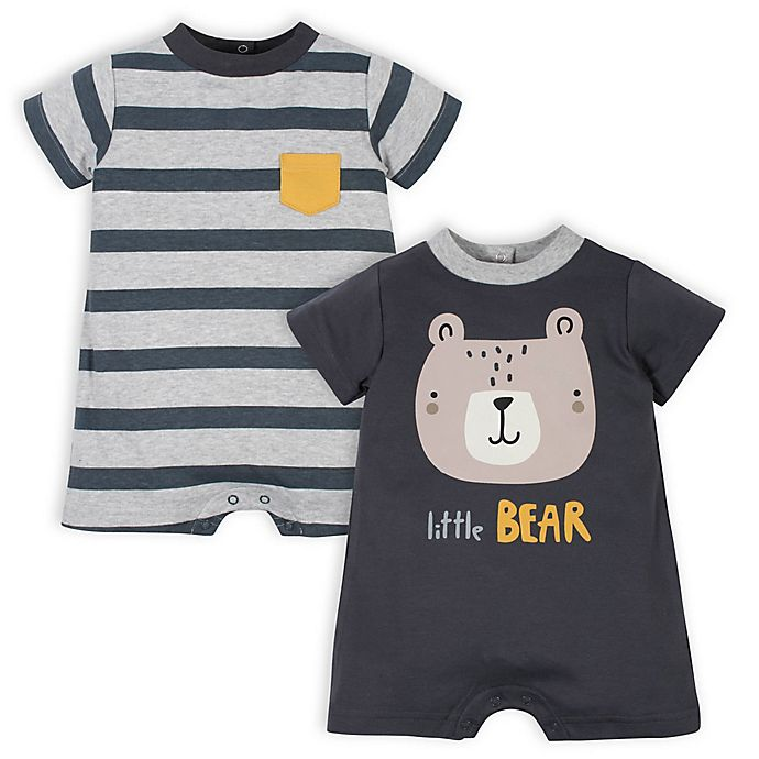 Alternate image 1 for Gerber® 2-Pack Bear Rompers