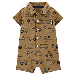carter's® Trucks Romper in Khaki