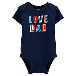 "carter's® ""Love Dad"" Bodysuit in Navy"