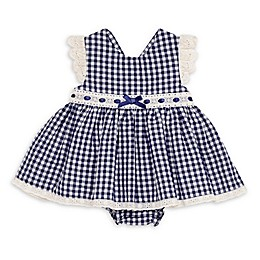 Baby Starters® Gingham Dress with Diaper Cover in Navy