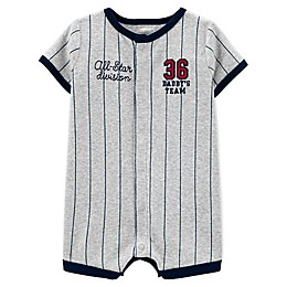 carter's® Baseball Snap-Up Romper in Heather Grey