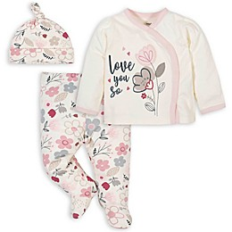 Gerber® 3-Piece Floral Take Me Home Set in Ivory/Pink