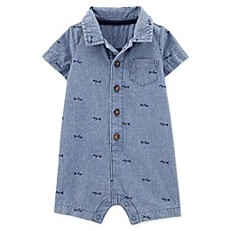 carter's® Chambray Polo Romper