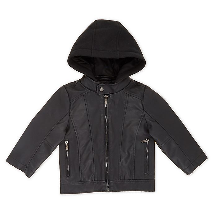 Alternate image 1 for Urban Republic Faux Leather Motorcycle Jacket in Black