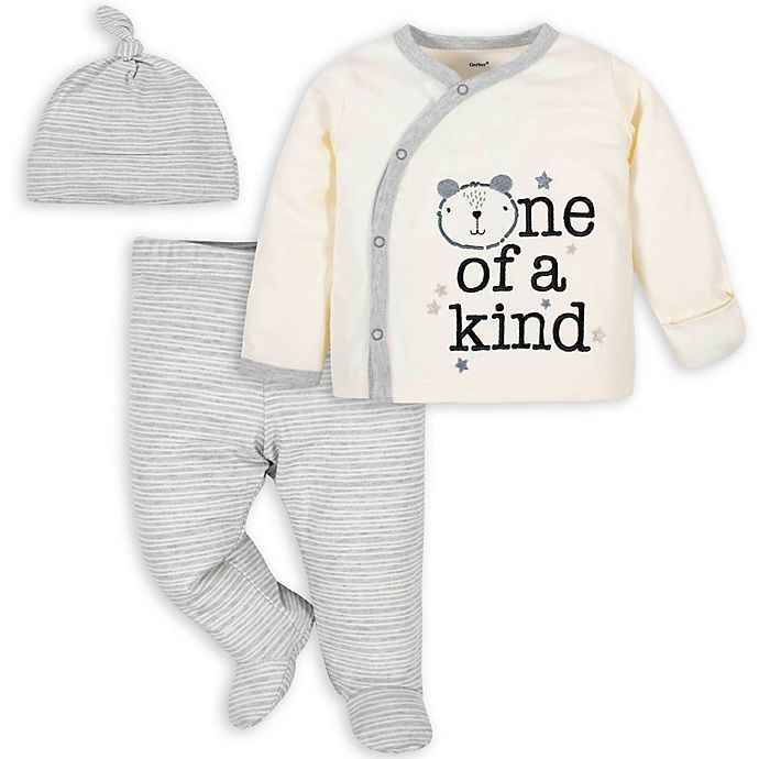 Alternate image 1 for Gerber® 3-Piece Bear Take Me Home Set in Ivory/Grey