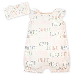 "Gerber® Newborn 2-Piece ""Cute"" Romper and Headband Set in Ivory"