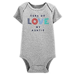 carter's® Love Auntie Short Sleeve Bodysuit in Heather