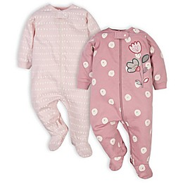 Gerber® 2-Pack Flower Polka Dot Sleep 'n Plays in Pink