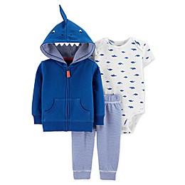 carter's® 3-Piece Shark Jacket, Bodysuit and Pant Set in Blue