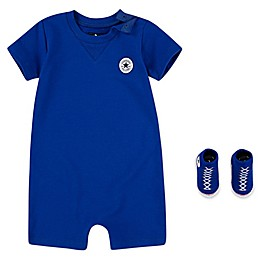 Converse® 2-Piece Lil Chuck Romper and Sock Set in Blue