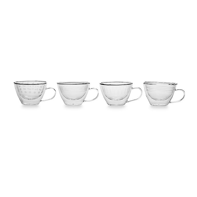 Alternate image 1 for Mikasa® Cheers Insulated Cappuccino Glasses (Set of 4)