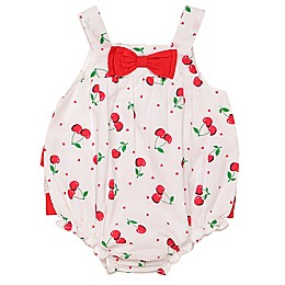 Baby Starters® Cherry Bubble Sunsuit in White