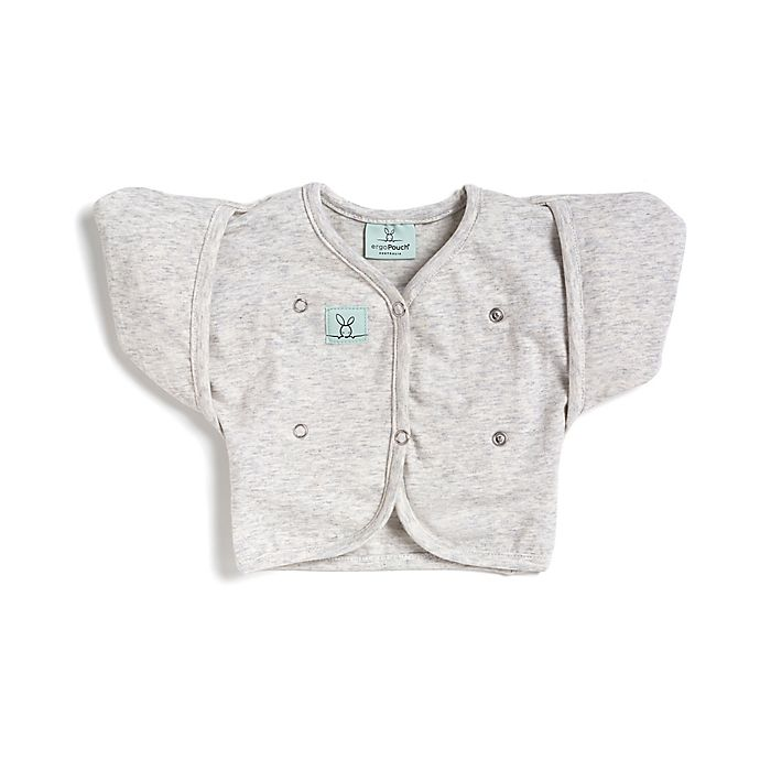 Alternate image 1 for ergoPouch® Size 2-6M Organic Cotton Butterfly Cardi in Grey