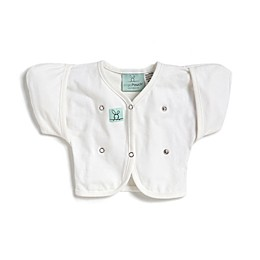 ergoPouch® Size 2-6M Organic Cotton Butterfly Cardi in White