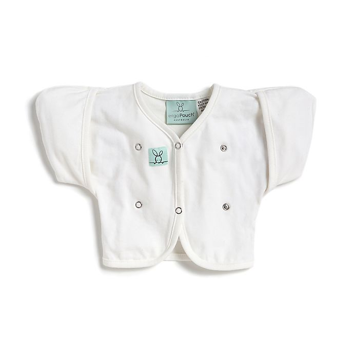 Alternate image 1 for ergoPouch® Size 2-6M Organic Cotton Butterfly Cardi in White