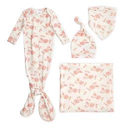 aden + anais® 5-Piece Rosettes Snuggle Knit Newborn Gift Set in Blush/White