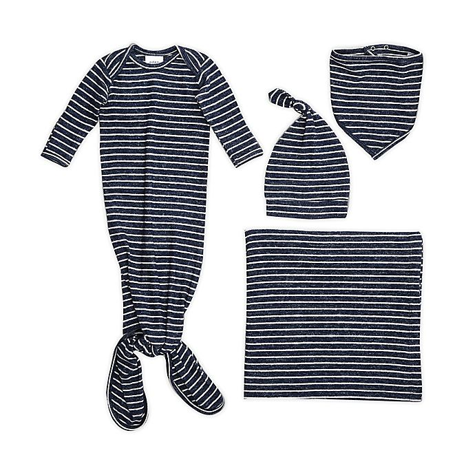 Alternate image 1 for aden + anais® 5-Piece Striped Snuggle Knit Newborn Gift Set in Navy