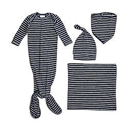 aden + anais® 5-Piece Striped Snuggle Knit Newborn Gift Set in Navy