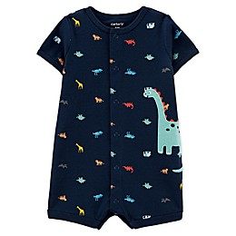carters® Dino Snap-Up Romper in Navy