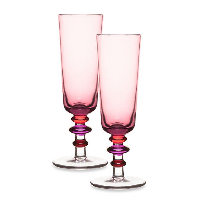 Alternate image 1 for Sagaform® Spectra Champagne Flute in Purple (Set of 2)