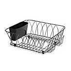 Tuscan Dish Rack in Black Chrome