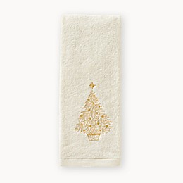 Glimmer Tree 2-Piece Hand Towel Set in Natural